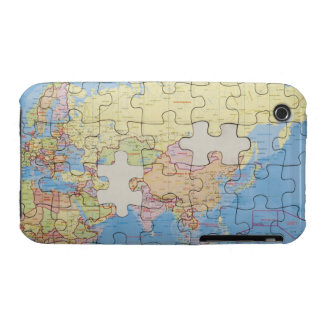 Puzzle Globe with two pieces missing iPhone 3 Case