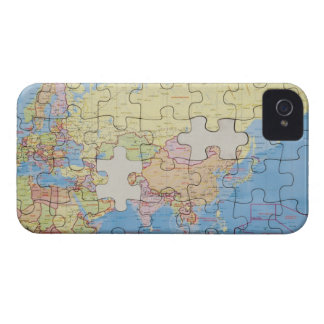 Puzzle Globe with two pieces missing iPhone 4 Cover