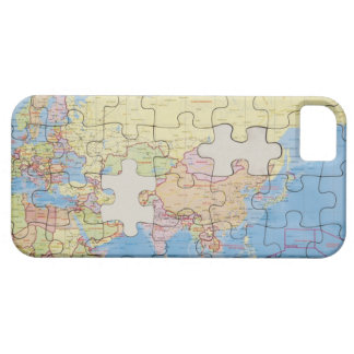 Puzzle Globe with two pieces missing iPhone SE/5/5s Case