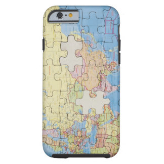 Puzzle Globe with two pieces missing Tough iPhone 6 Case