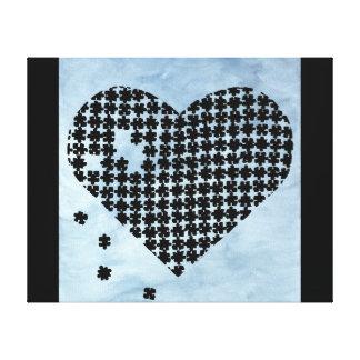 Puzzle Heart Canvas Print