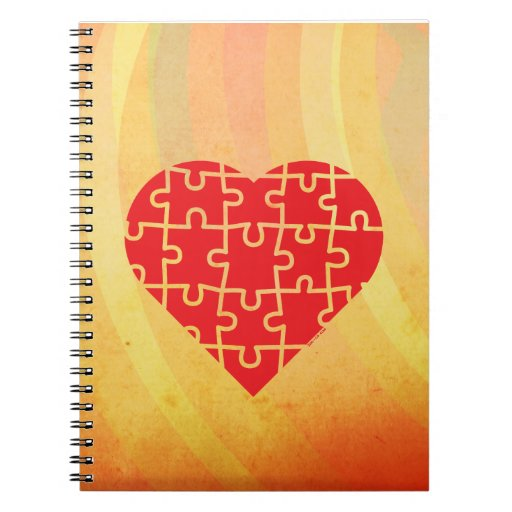 Puzzle Heart Notebook