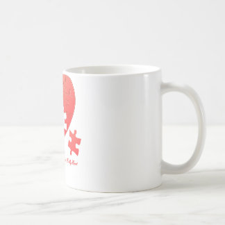 Puzzle Heart with Piece and Quote Classic White Coffee Mug
