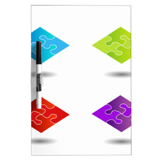 Puzzle in different colors dry erase board