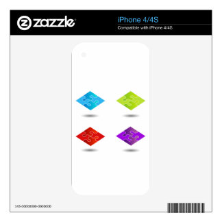Puzzle in different colors skins for iPhone 4S