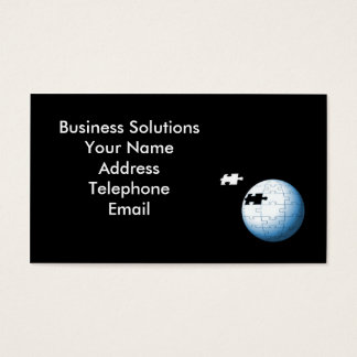 Puzzle in Globe Shape with Missing Piece Business Card