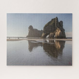 Puzzle Landscape of New Zealand - Wharariki beach