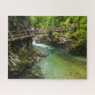 Puzzle Landscape of Slovenia - Vintgar Gorge