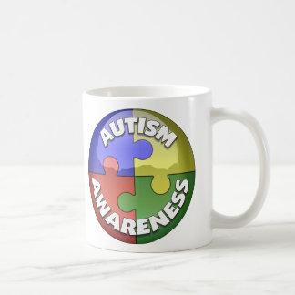 Puzzle Lens 4 color puzzle piece pinwheel Coffee Mug