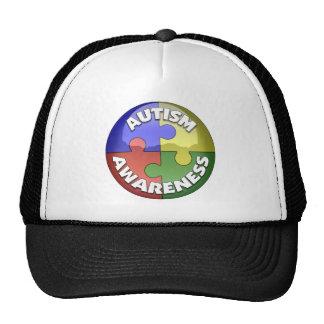 Puzzle Lens 4 color puzzle piece pinwheel Trucker Hat