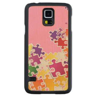 Puzzle Look Carved Maple Galaxy S5 Slim Case