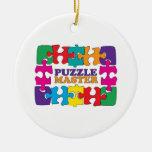 Puzzle Master Ceramic Ornament