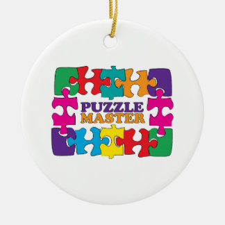 Puzzle Master Ceramic Ornament