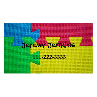 Puzzle Mat Children Calling Card Double-Sided Standard Business Cards (Pack Of 100)