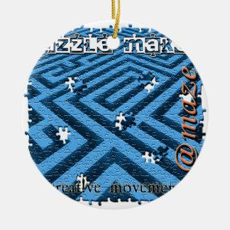 Puzzle Maze Riddle Ceramic Ornament