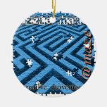 Puzzle Maze Riddle Christmas Tree Ornament