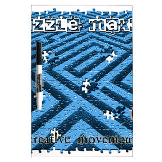 Puzzle Maze Riddle Dry-Erase Board