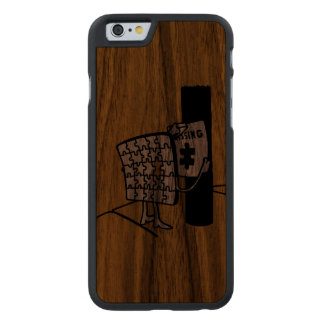 Puzzle Missing Carved® Walnut iPhone 6 Case