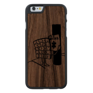 Puzzle Missing Carved® Walnut iPhone 6 Slim Case