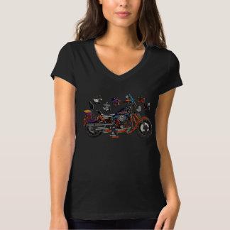 Puzzle motorcycle black tee-shirt T-Shirt