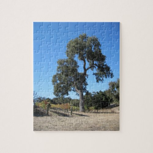 Puzzle: Oak in the Vineyard Jigsaw Puzzle