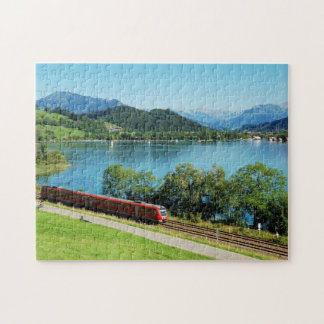 Puzzle of large Alpsee with Immenstadt