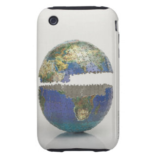 Puzzle of the globe tough iPhone 3 cases