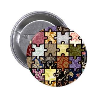 Puzzle Patchwork Button