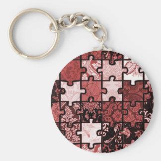 Puzzle Patchwork Keychain