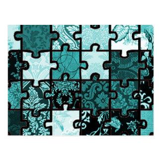 Puzzle Patchwork Postcard