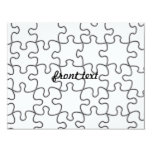 Puzzle Pattern (Add Your Image) 4.25x5.5 Paper Invitation Card