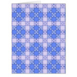 puzzle pattern blue card