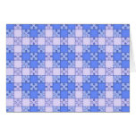 Puzzle Pattern,blue Card