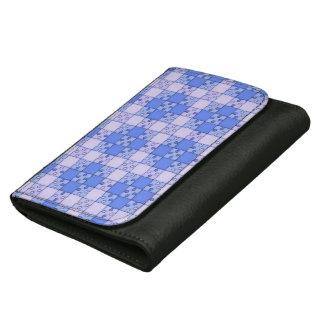 Puzzle Pattern,blue Women's Wallet