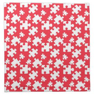 Puzzle Pattern Cloth Napkin