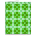 puzzle pattern green greeting card