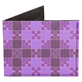 puzzle pattern purple tyvek wallet