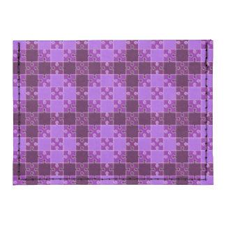 puzzle pattern purple tyvek® card case wallet