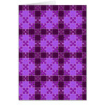 Puzzle pattern,purple greeting card