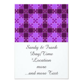 puzzle pattern purple announcement