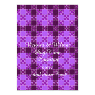 puzzle pattern purple announcements