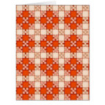 puzzle pattern red card