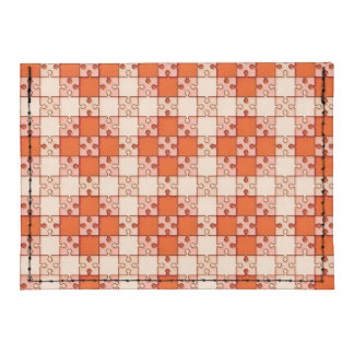 puzzle pattern red tyvek® card wallet