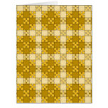 puzzle pattern yellow card