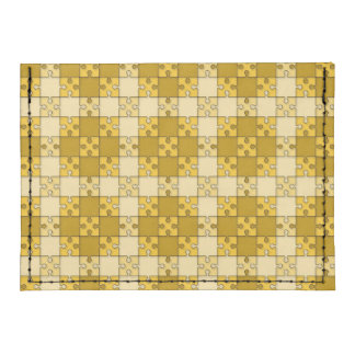 puzzle pattern yellow tyvek® card wallet