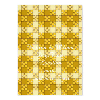 puzzle pattern yellow personalized announcements