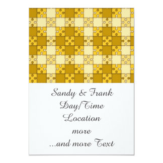 puzzle pattern yellow personalized invite