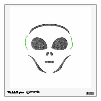 Puzzle Patterned Alien Wall Decal