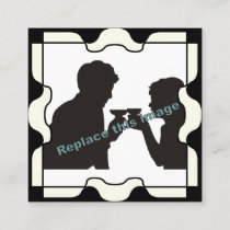 Puzzle Photo Frame in Black Calling Card