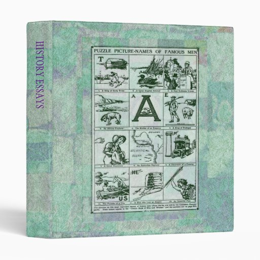 Puzzle Picture Names Binder